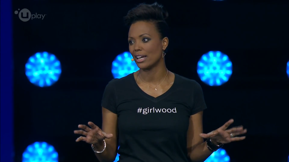 Aisha Tyler at Ubisoft's Press Conference at E3 2013