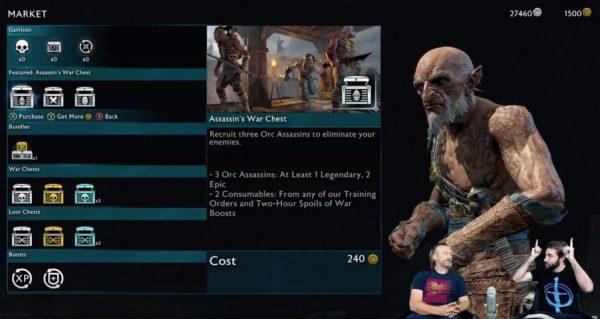 Noen av de flotte tingene du har æren av å kjøpe i Shadow of War med ekte penger!