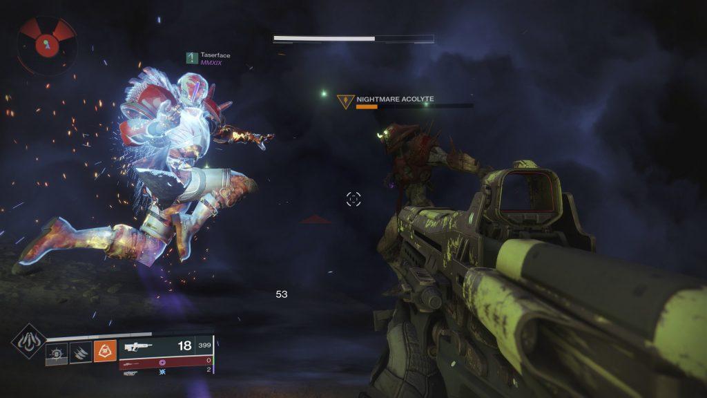 """Skjermbilde fra Destiny 2: Shadowkeep som viser frem en """"finisher""""."""
