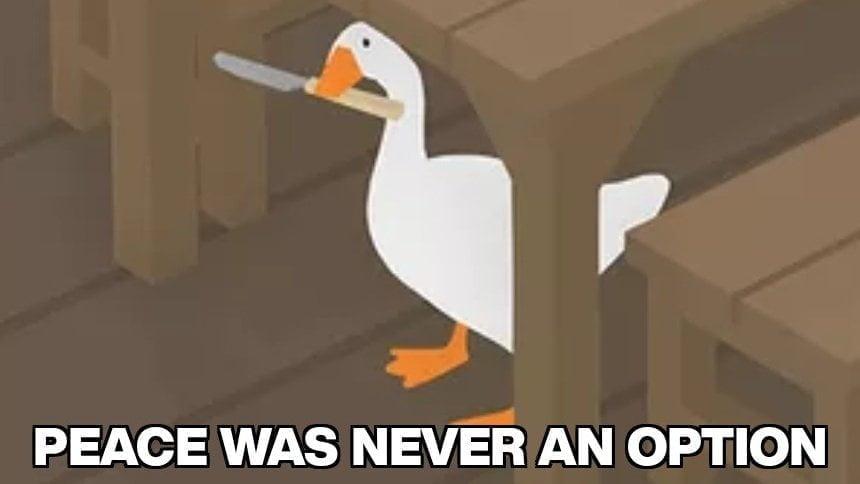 Untitled Goose Game meme